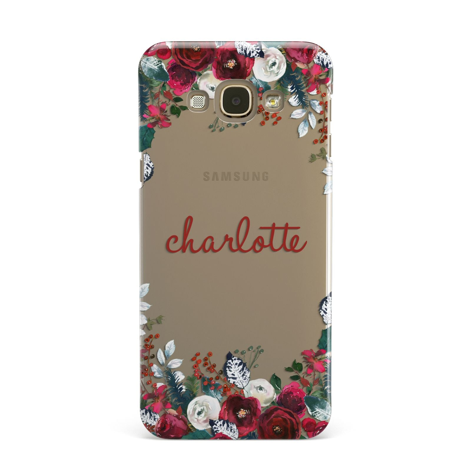 Christmas Flowers Personalised Samsung Galaxy A8 Case