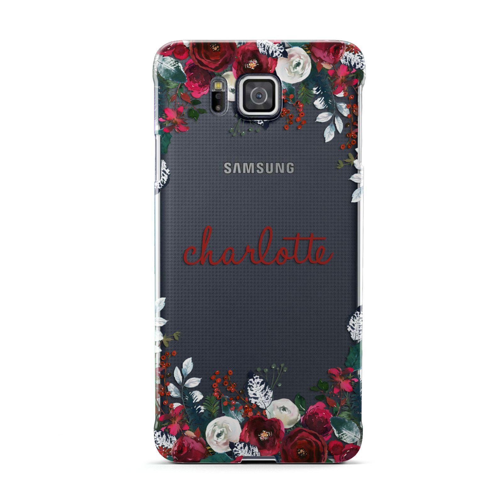 Christmas Flowers Personalised Samsung Galaxy Alpha Case