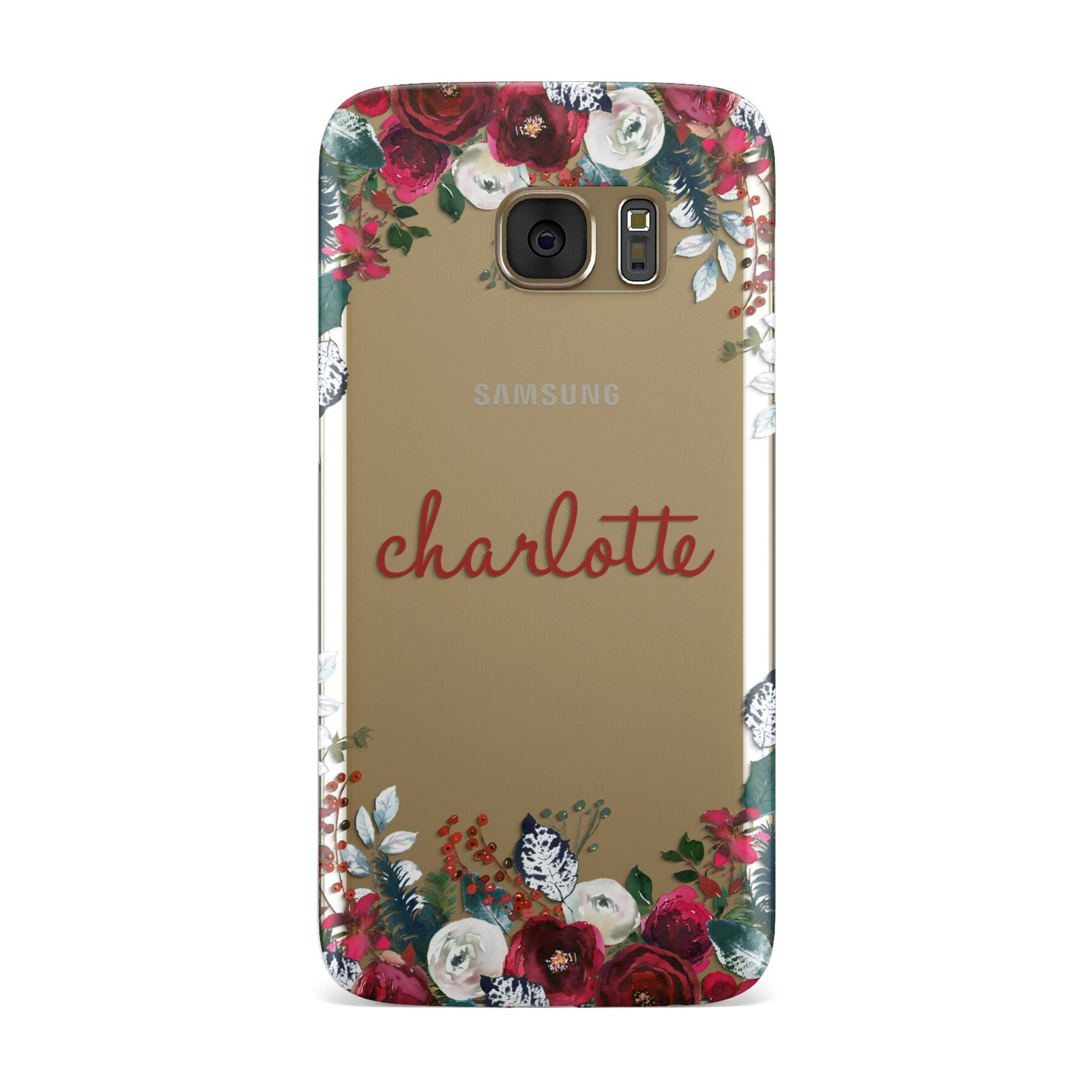 Christmas Flowers Personalised Samsung Galaxy Case