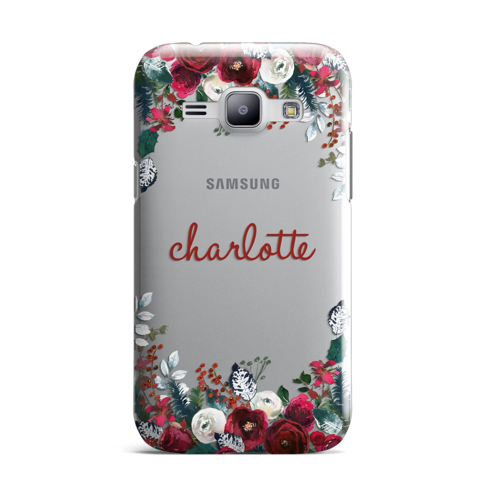 Christmas Flowers Personalised Samsung Galaxy J1 2015 Case