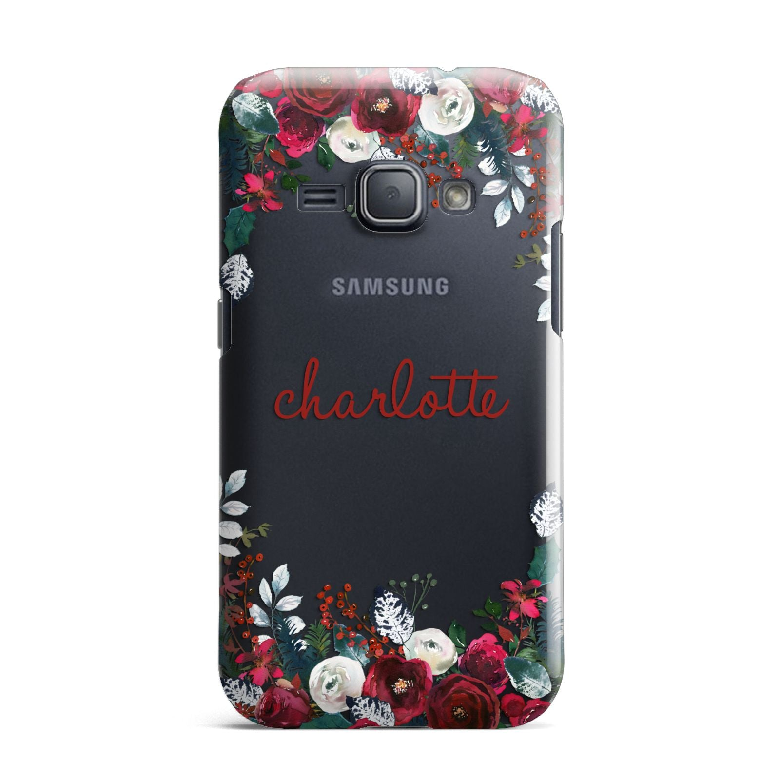 Christmas Flowers Personalised Samsung Galaxy J1 2016 Case