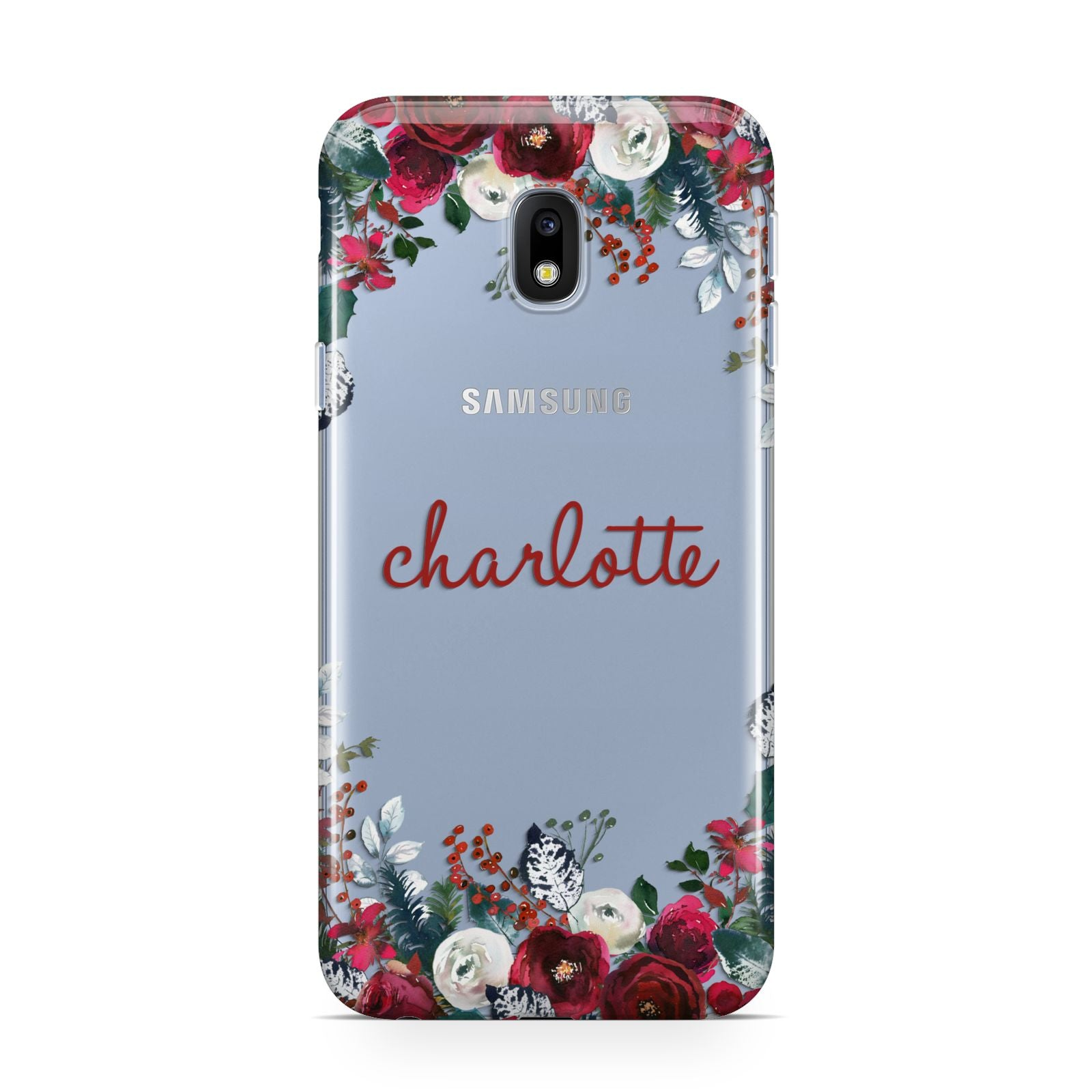 Christmas Flowers Personalised Samsung Galaxy J3 2017 Case