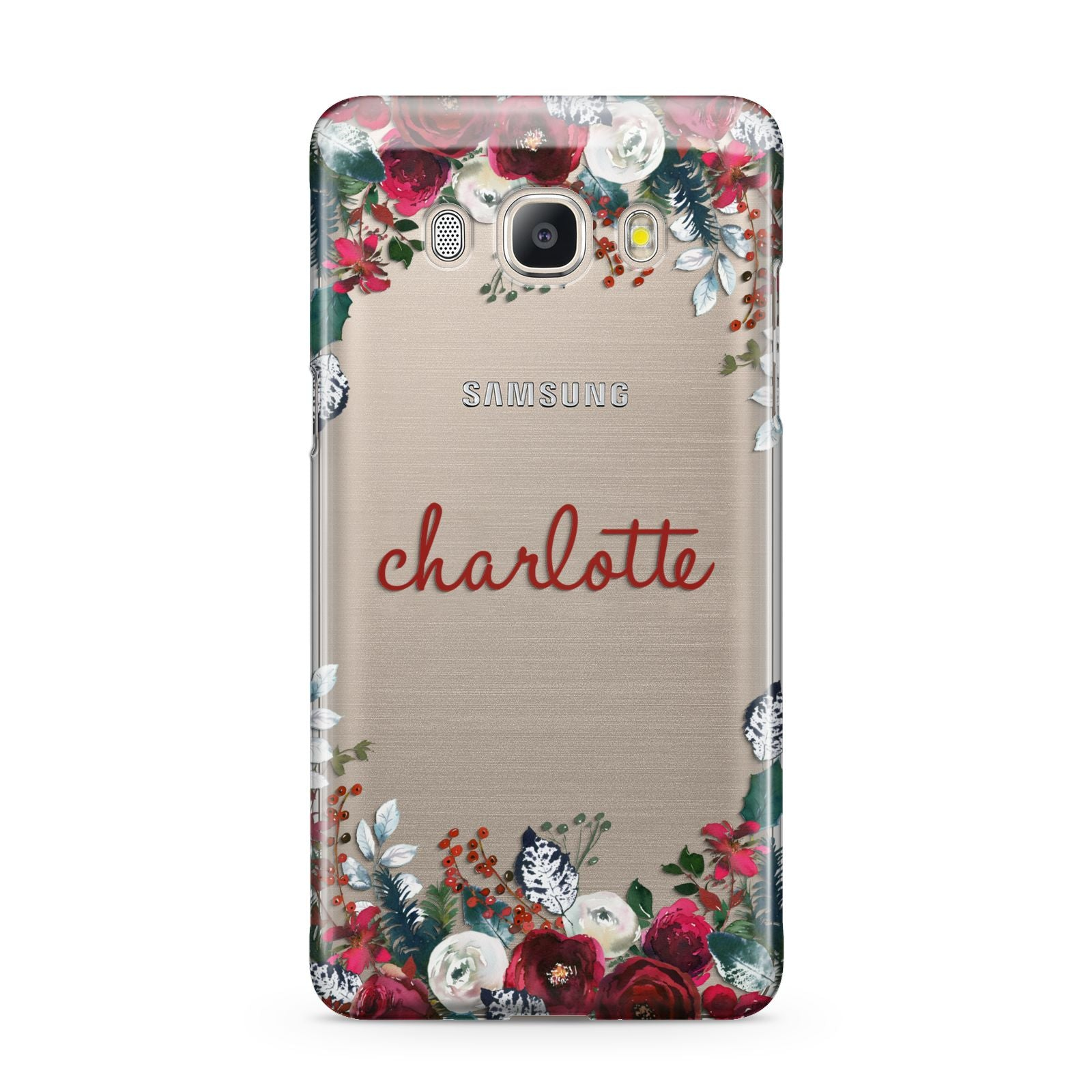 Christmas Flowers Personalised Samsung Galaxy J5 2016 Case