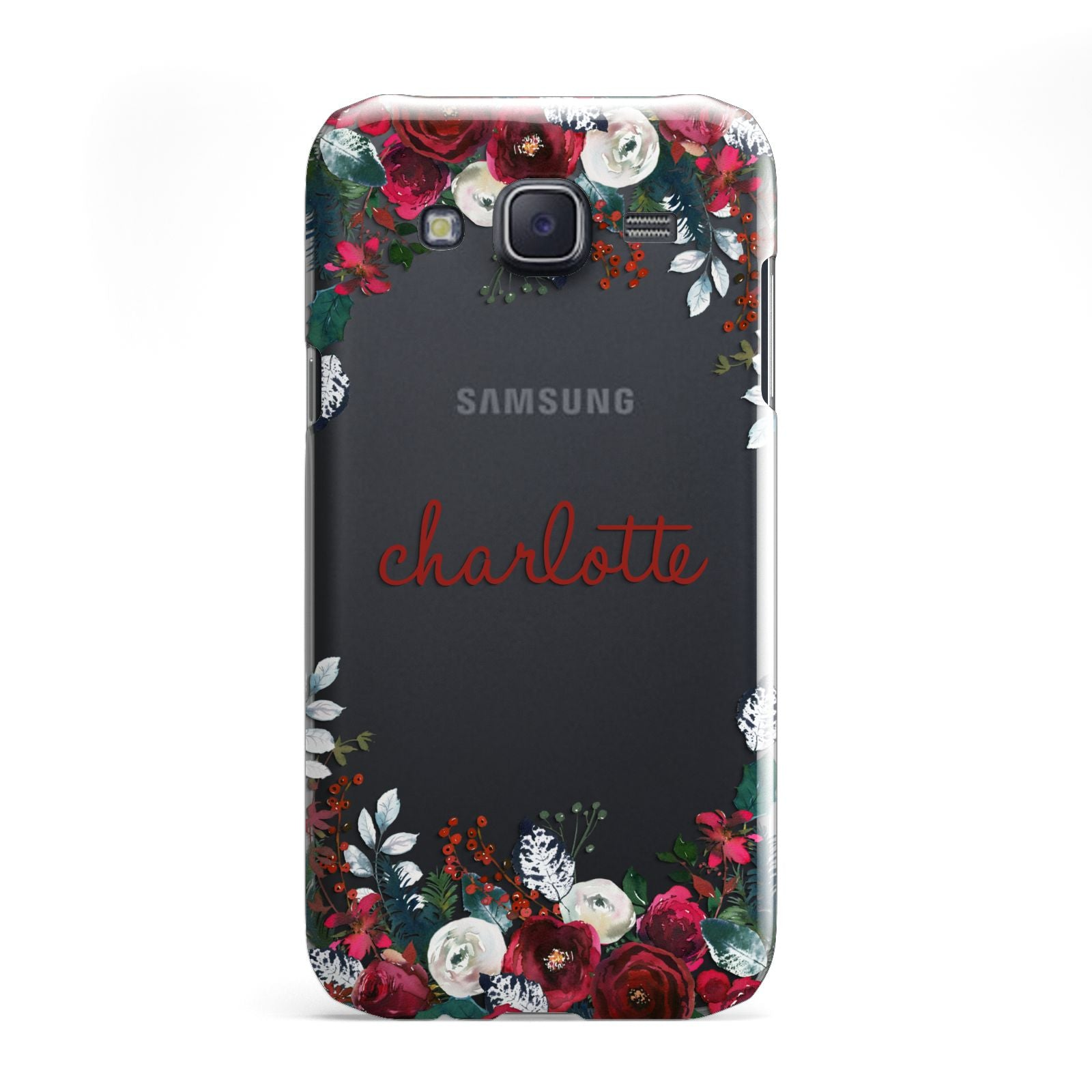 Christmas Flowers Personalised Samsung Galaxy J5 Case