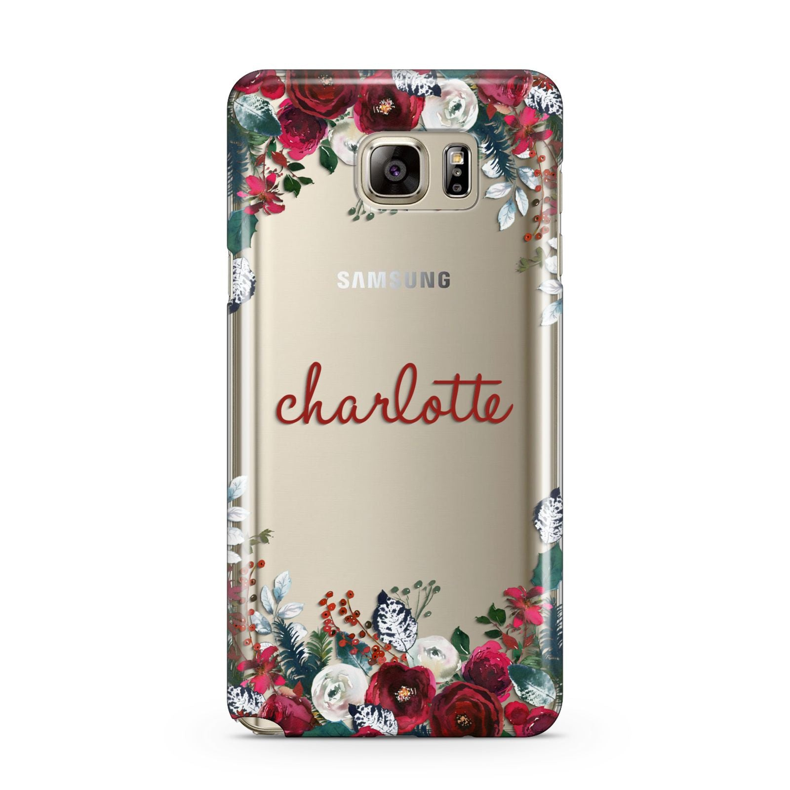 Christmas Flowers Personalised Samsung Galaxy Note 5 Case