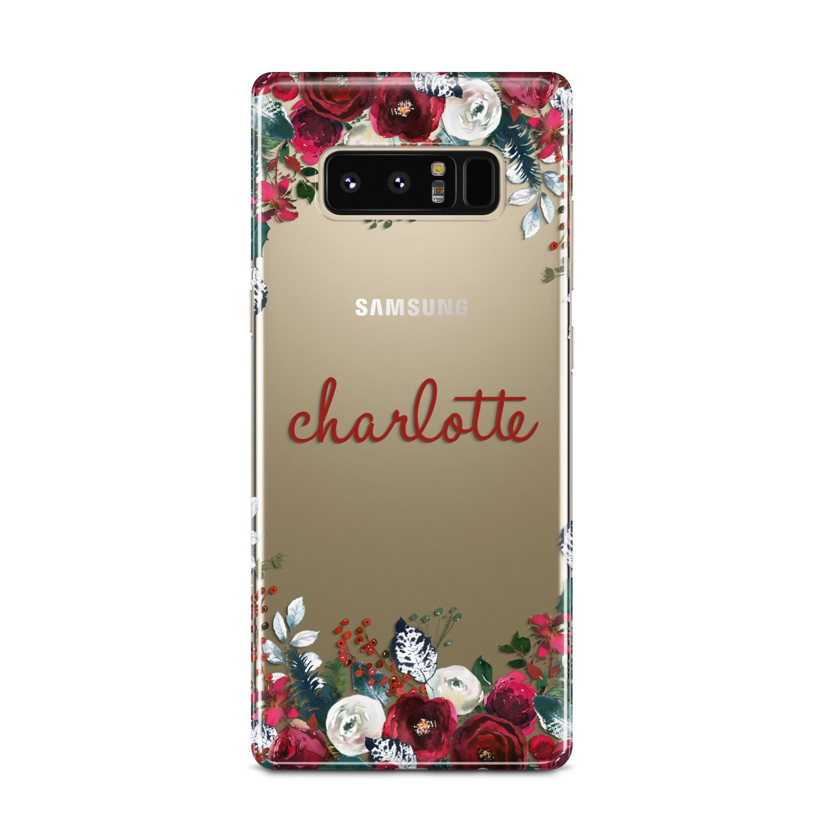 Christmas Flowers Personalised Samsung Galaxy Note 8 Case