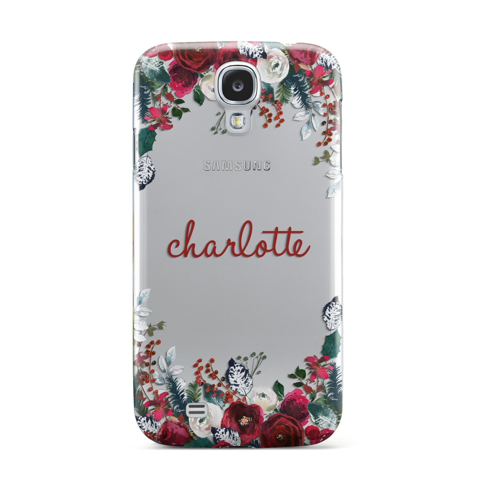 Christmas Flowers Personalised Samsung Galaxy S4 Case