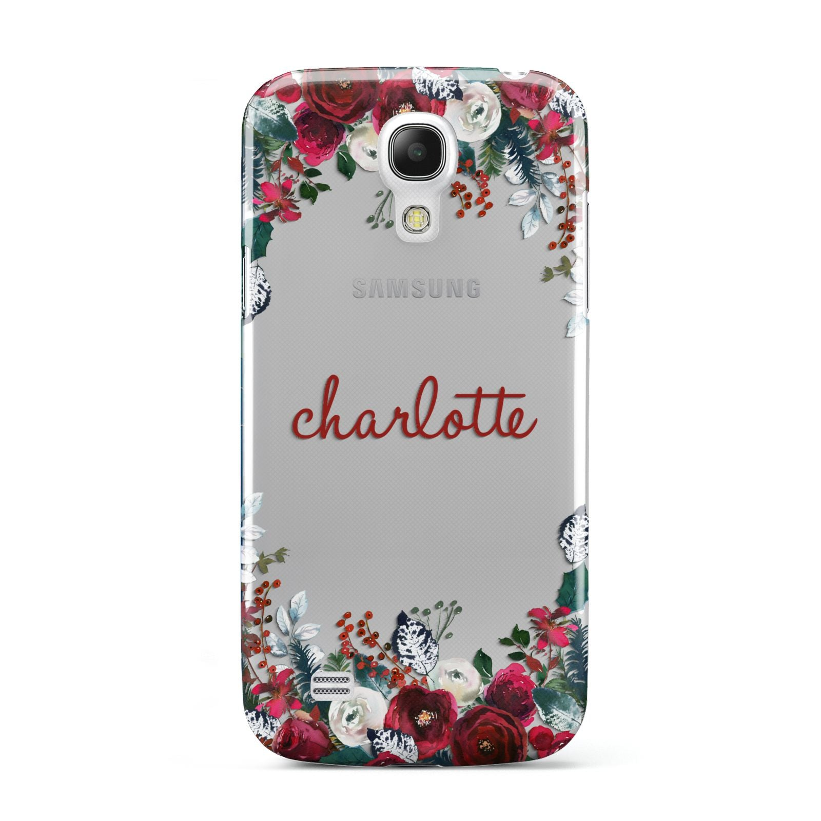 Christmas Flowers Personalised Samsung Galaxy S4 Mini Case