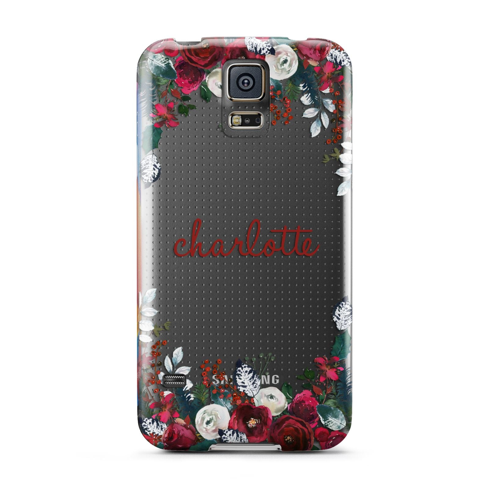 Christmas Flowers Personalised Samsung Galaxy S5 Case