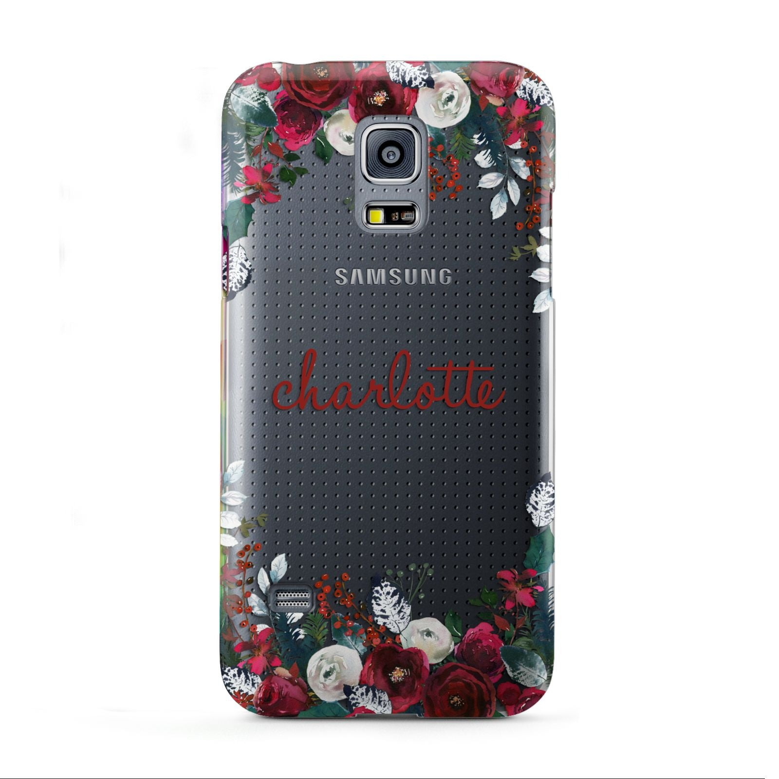 Christmas Flowers Personalised Samsung Galaxy S5 Mini Case