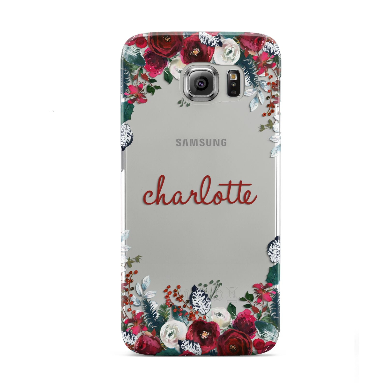 Christmas Flowers Personalised Samsung Galaxy S6 Case