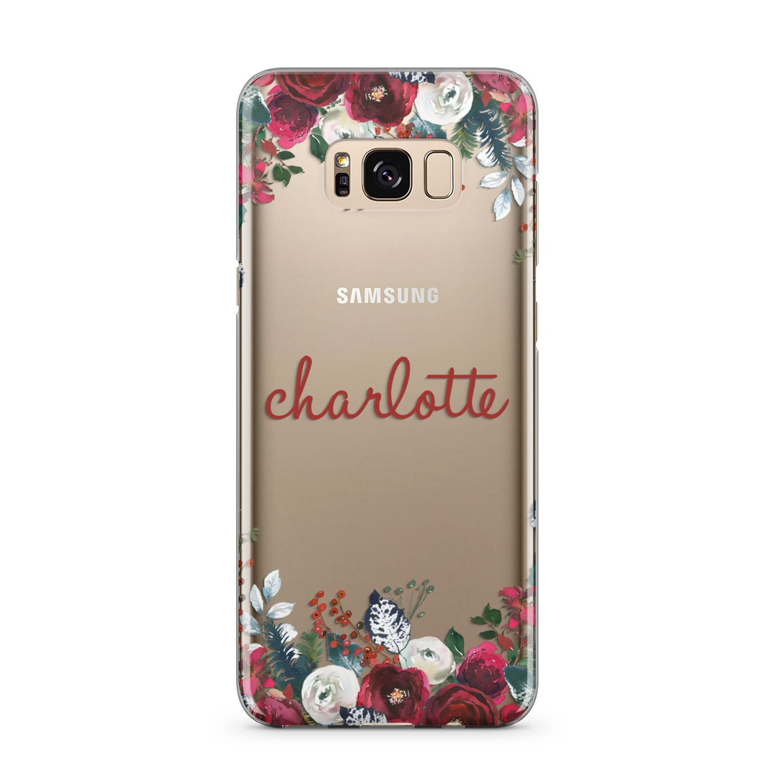 Christmas Flowers Personalised Samsung Galaxy S8 Plus Case