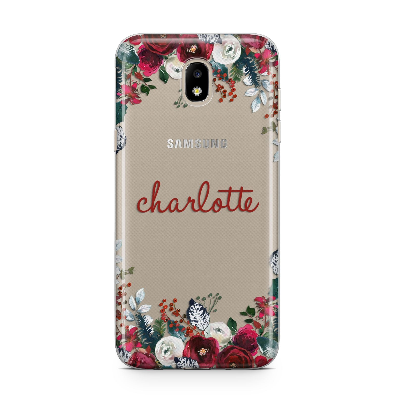 Christmas Flowers Personalised Samsung J5 2017 Case