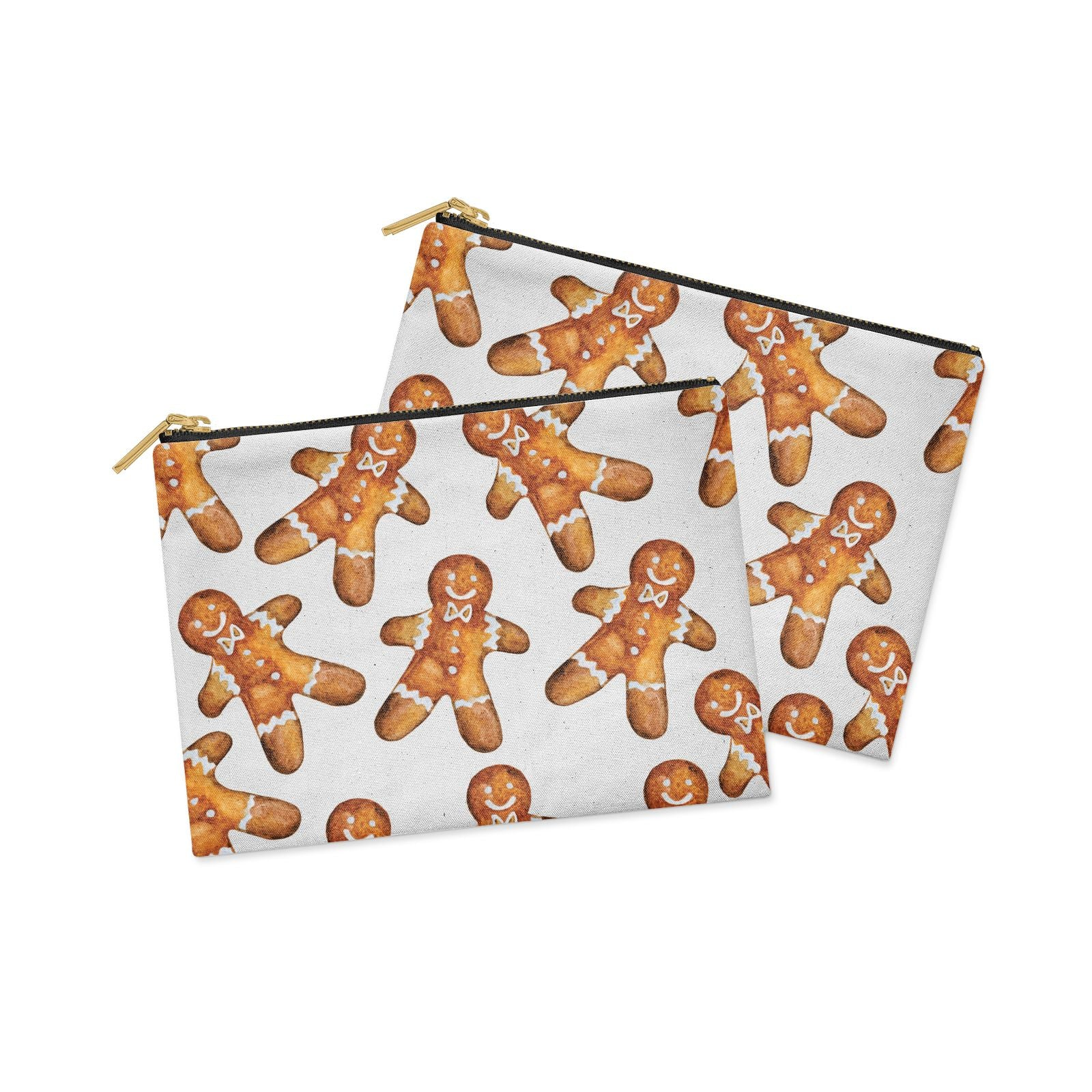 Christmas Gingerbread Man Clutch Bag Zipper Pouch Alternative View
