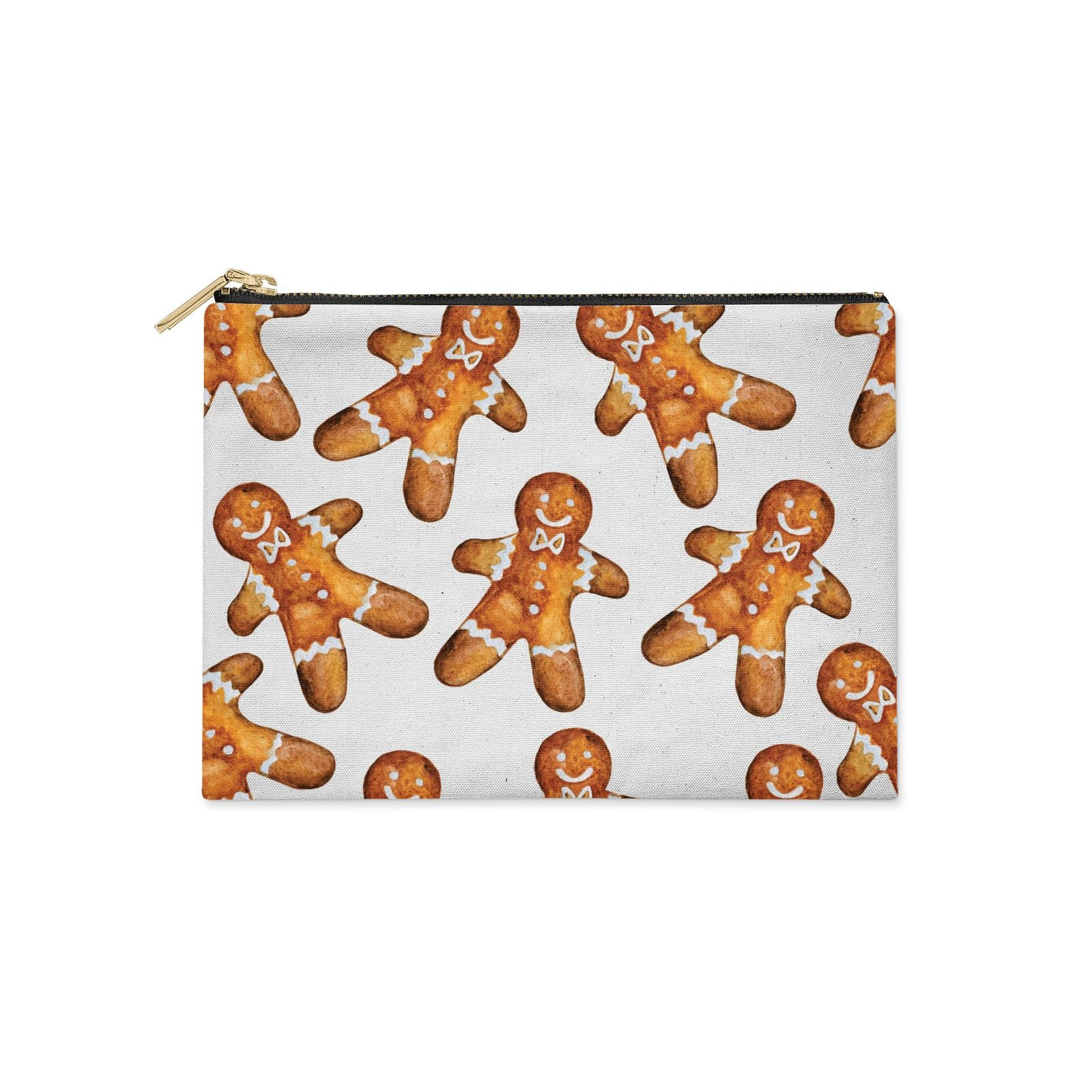 Christmas Gingerbread Man Clutch Bag Zipper Pouch