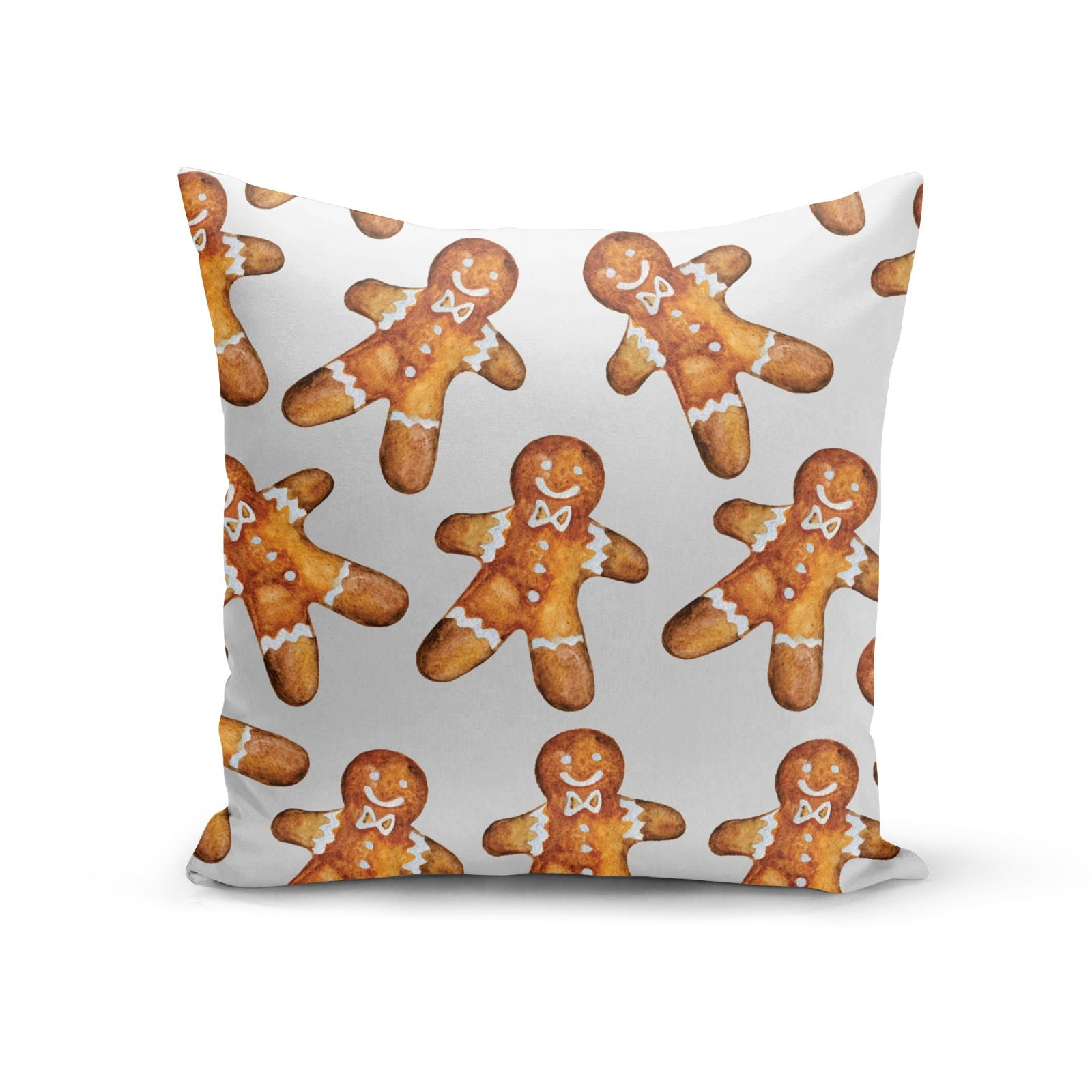 Christmas Gingerbread Man Cotton Cushion