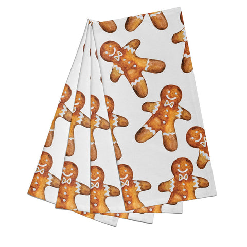 Christmas Gingerbread Man Napkins