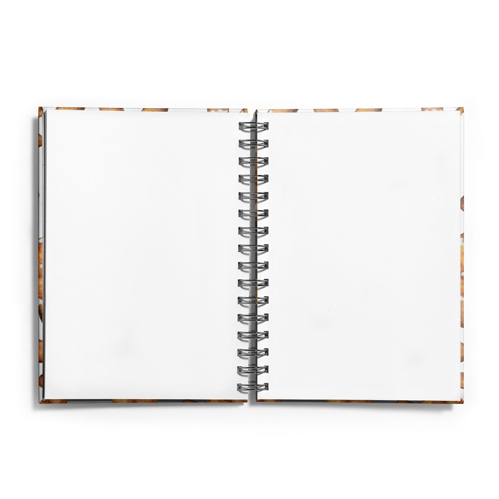 Christmas Gingerbread Man Notebook with Silver Coil and Plain Paper