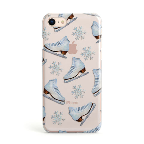 Christmas Ice Skates iPhone Case