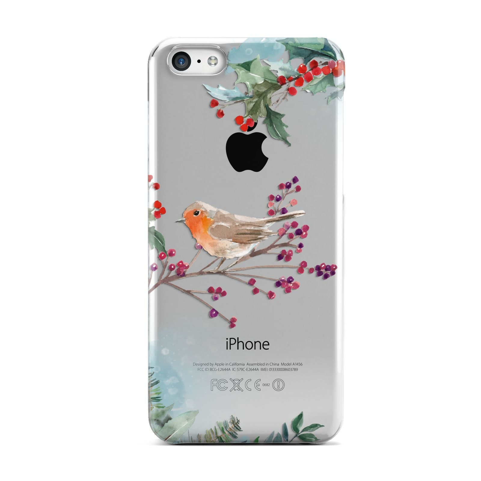 Christmas Robin Floral Apple iPhone 5c Case