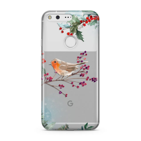 Christmas Robin Floral Google Case