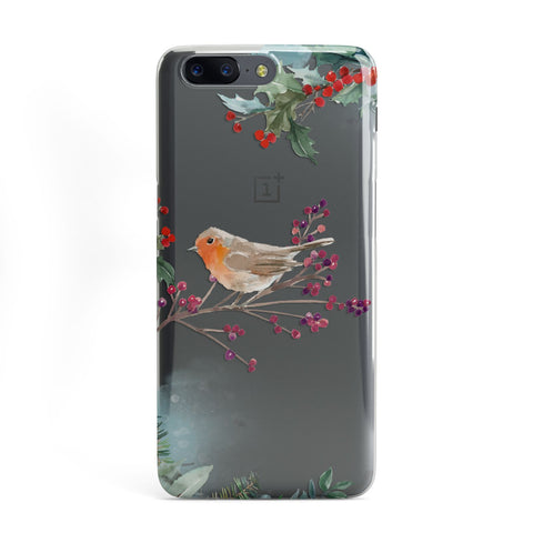 Christmas Robin Floral OnePlus Case