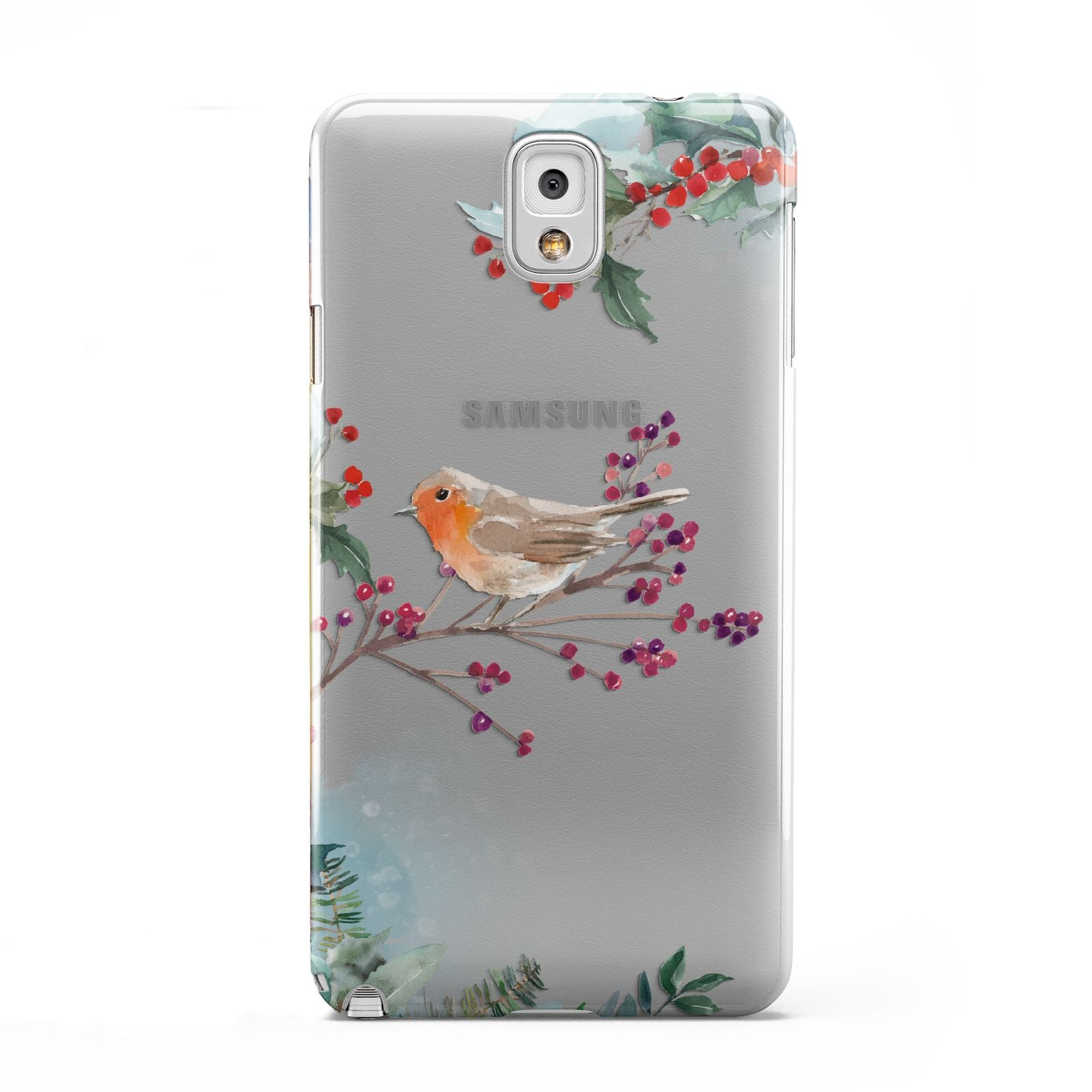 Christmas Robin Floral Samsung Galaxy Note 3 Case