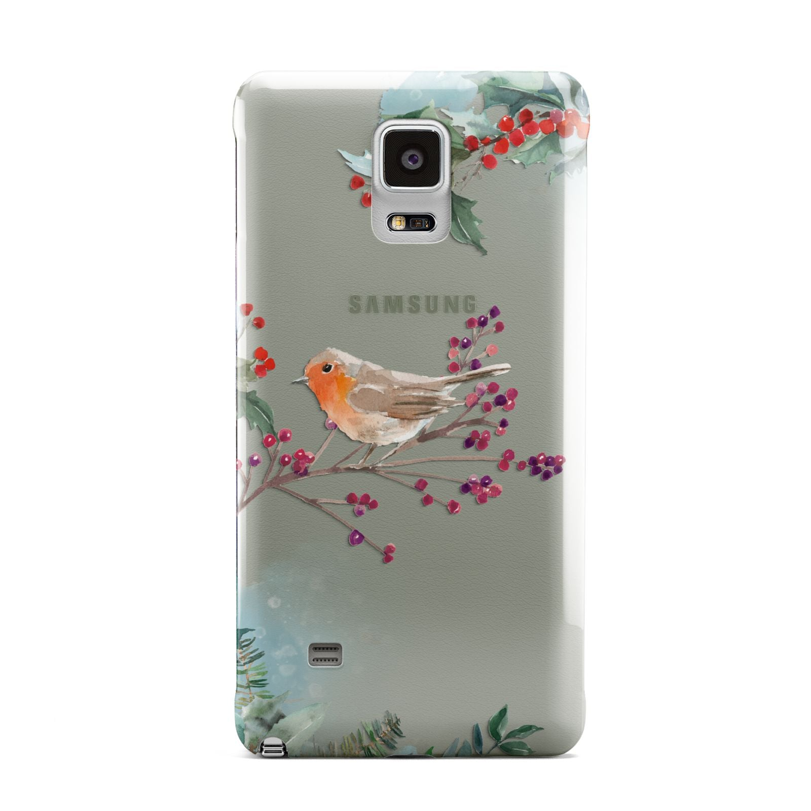 Christmas Robin Floral Samsung Galaxy Note 4 Case