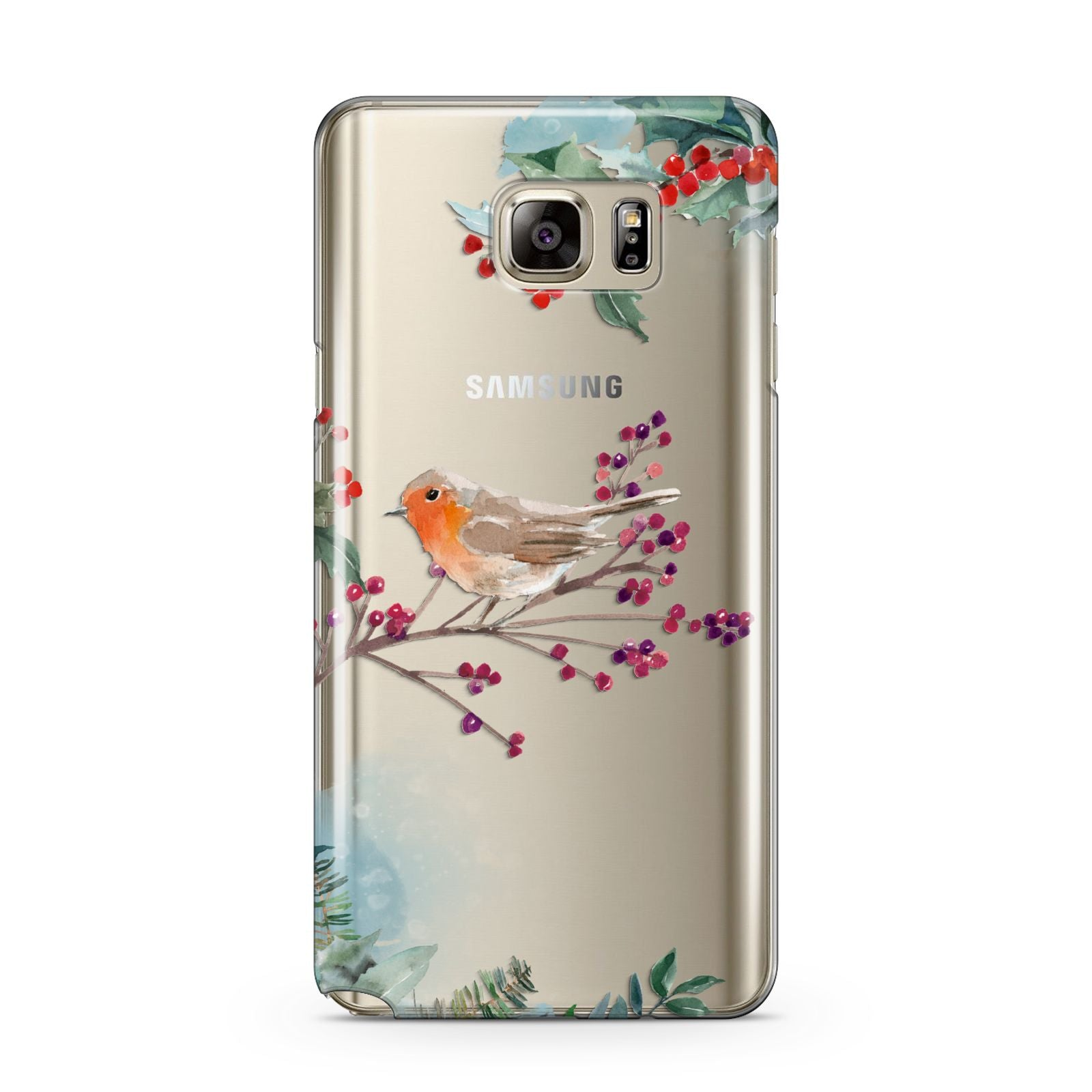 Christmas Robin Floral Samsung Galaxy Note 5 Case