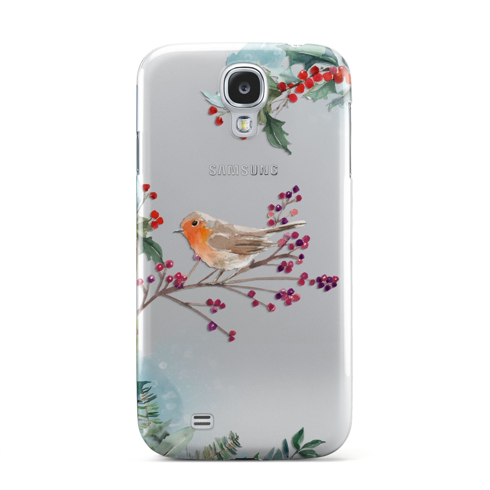 Christmas Robin Floral Samsung Galaxy S4 Case