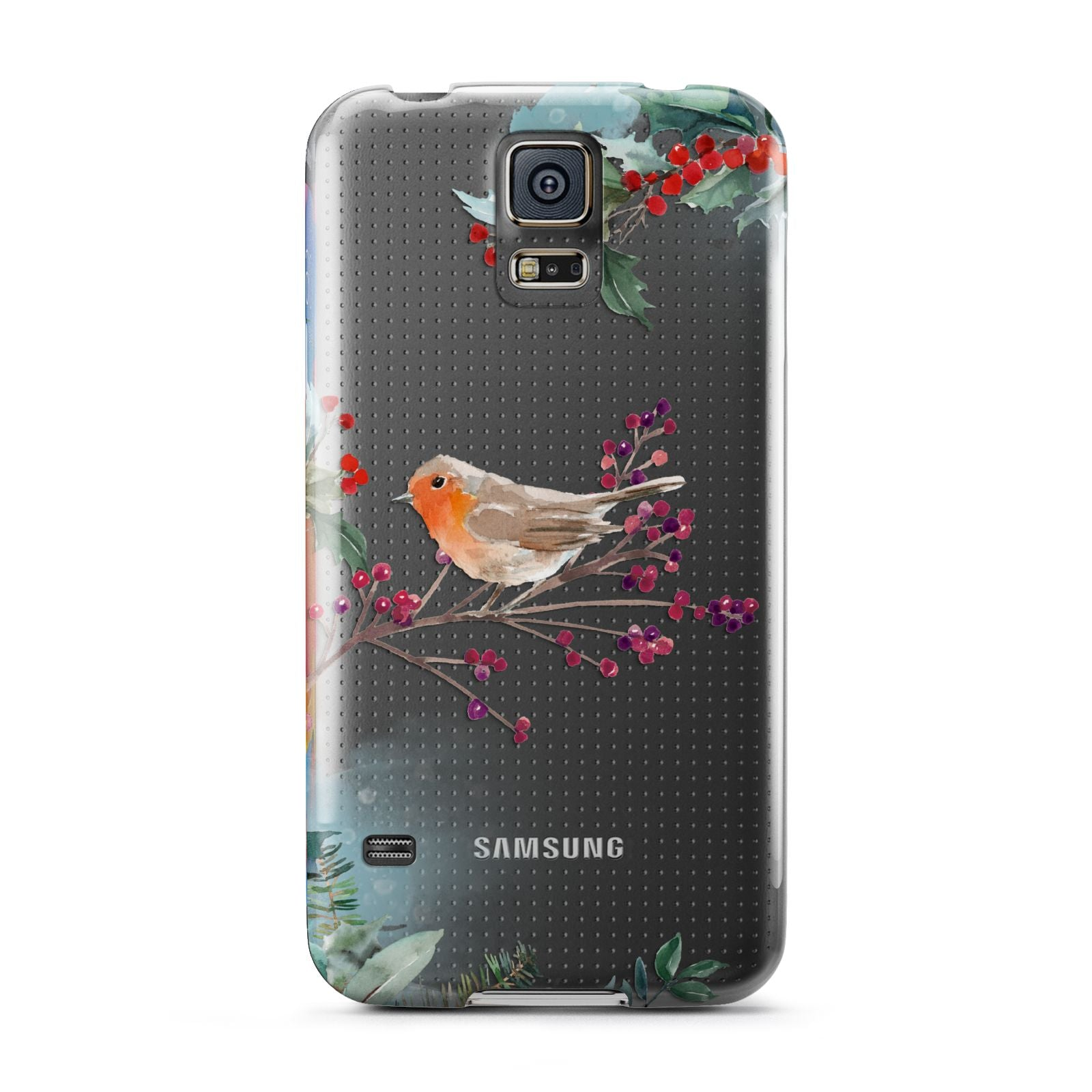 Christmas Robin Floral Samsung Galaxy S5 Case