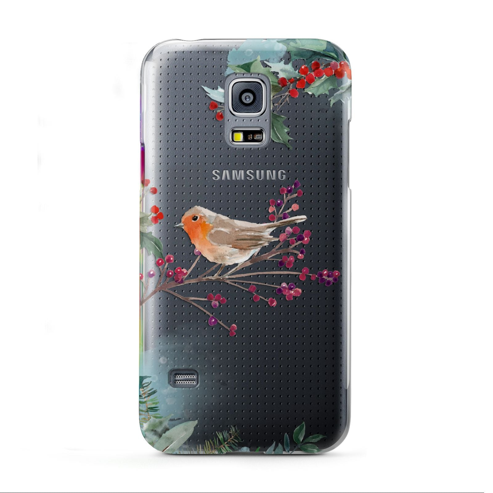 Christmas Robin Floral Samsung Galaxy S5 Mini Case