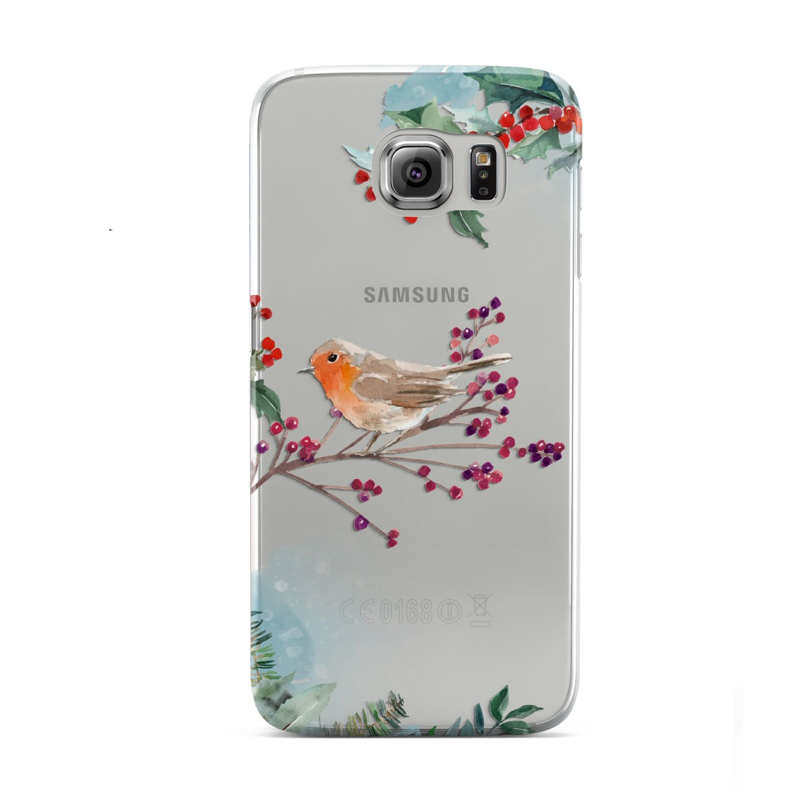 Christmas Robin Floral Samsung Galaxy S6 Case