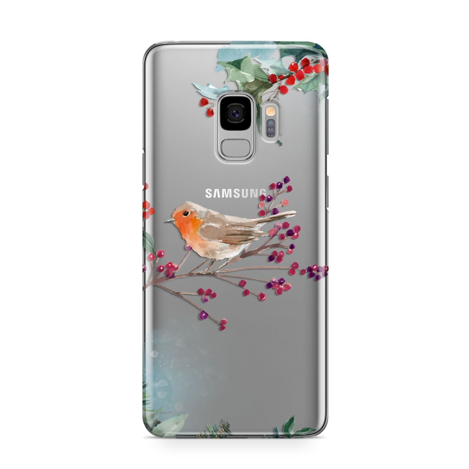 Christmas Robin Floral Samsung Galaxy S9 Case