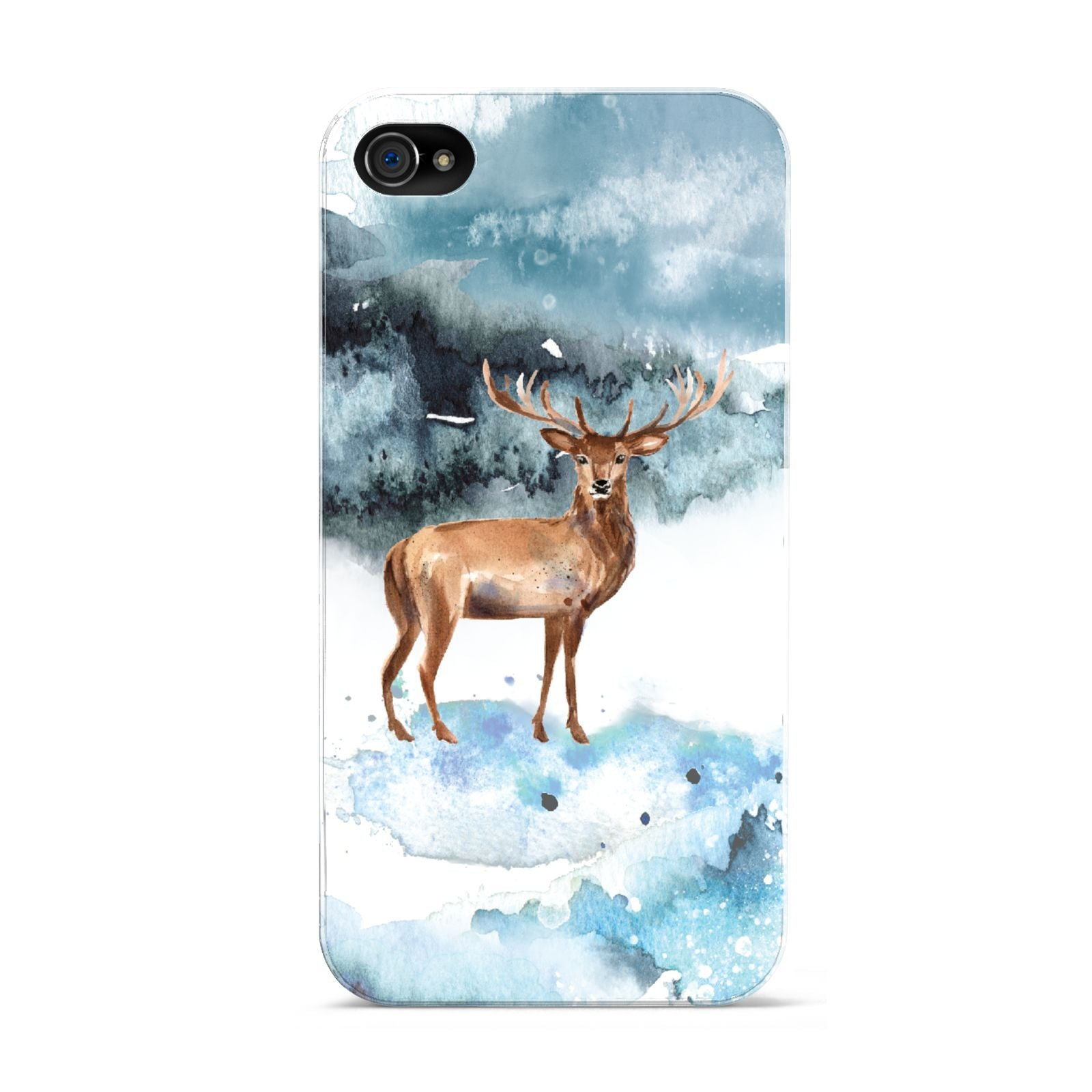 Christmas Winter Stag Apple iPhone 4s Case