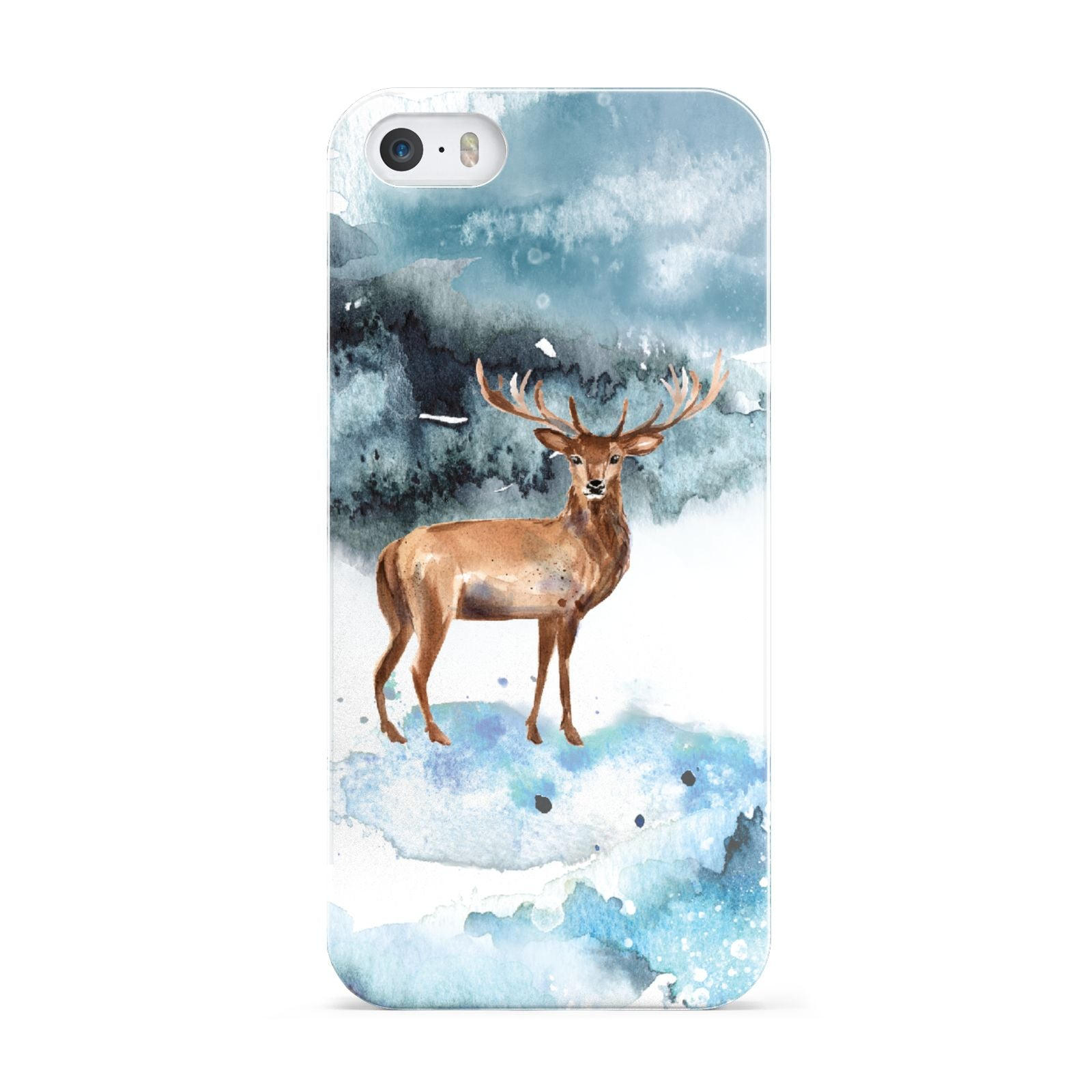 Christmas Winter Stag Apple iPhone 5 Case