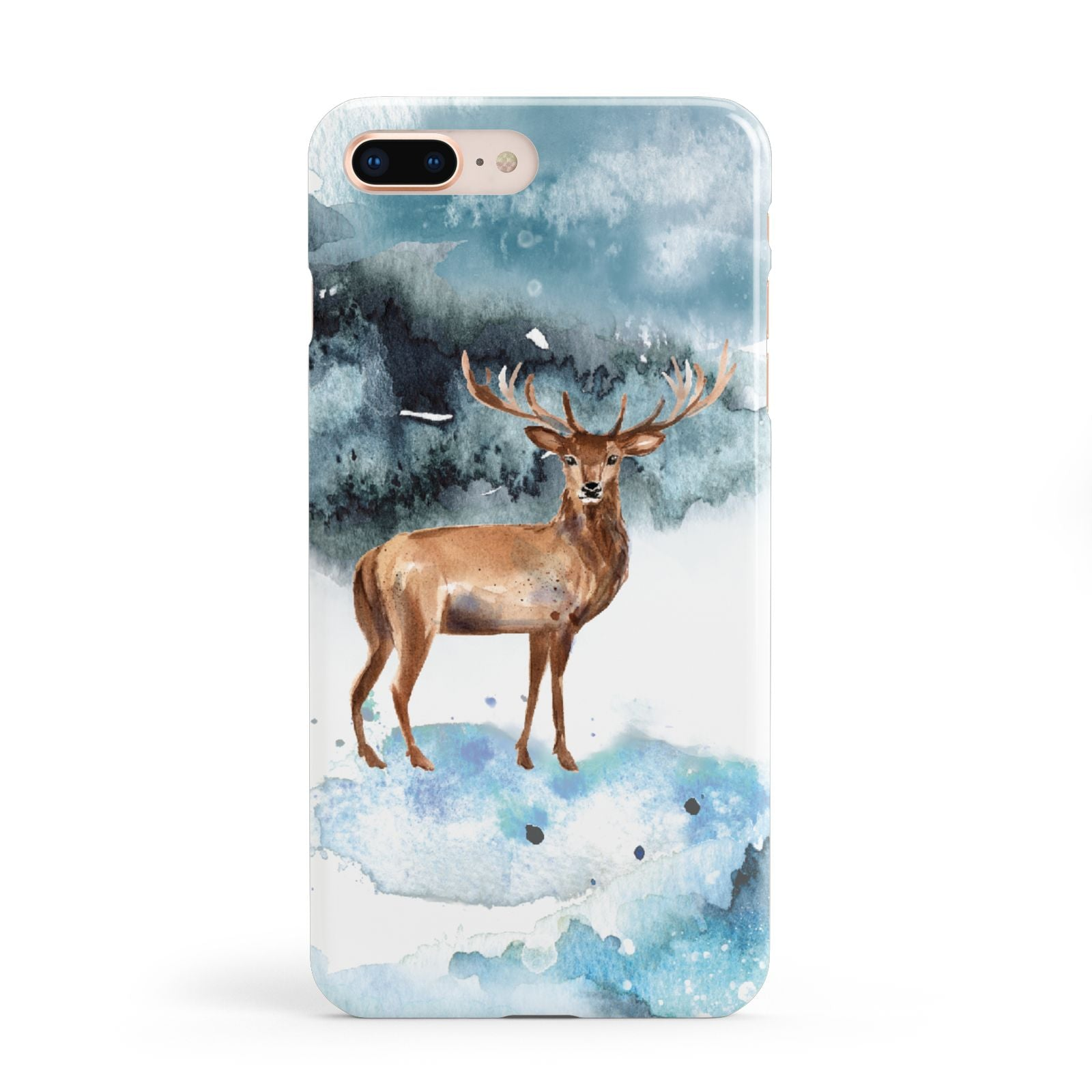 Christmas Winter Stag Apple iPhone 8 Plus Case