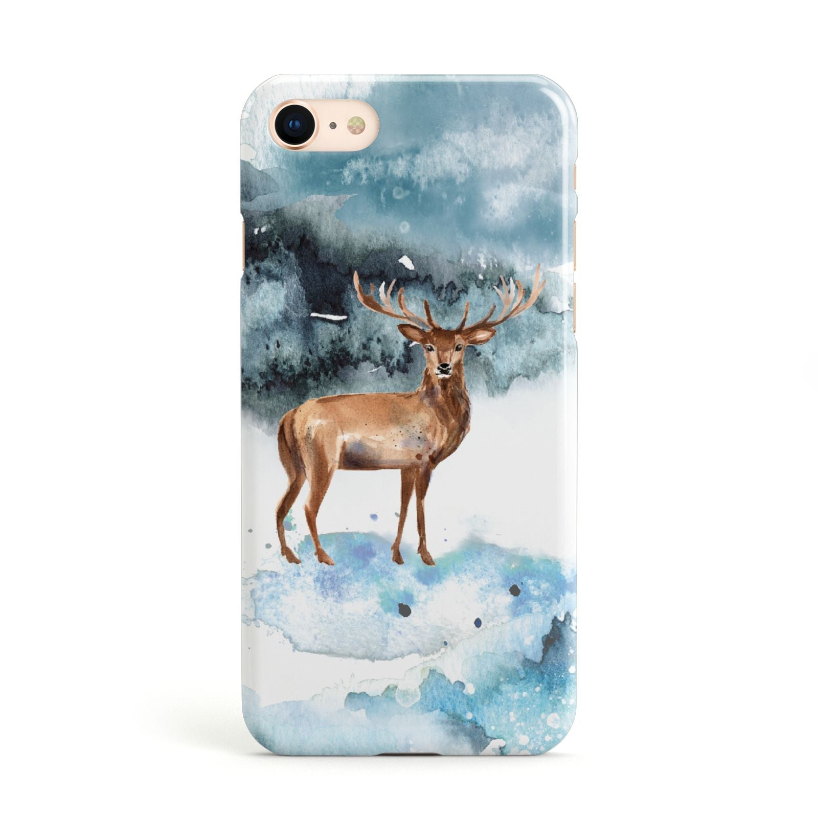 Christmas Winter Stag Apple iPhone Case