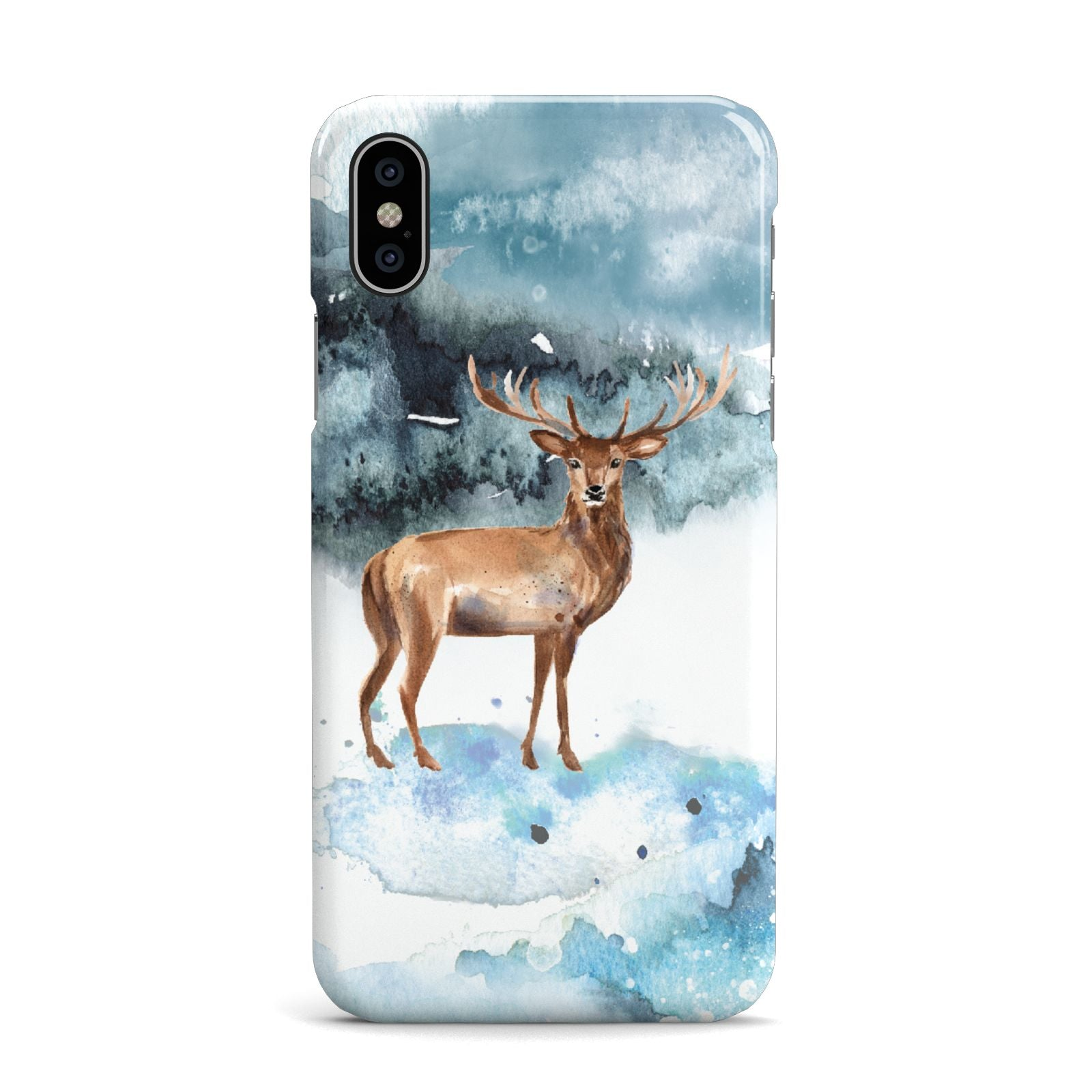 Christmas Winter Stag Apple iPhone X Case