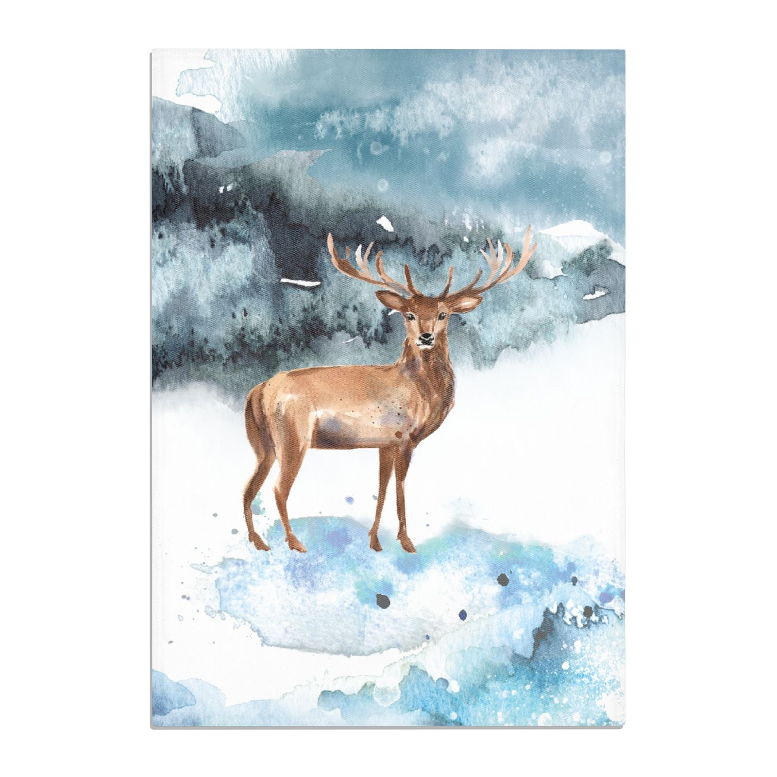 Christmas Winter Stag Cotton Tea Towel