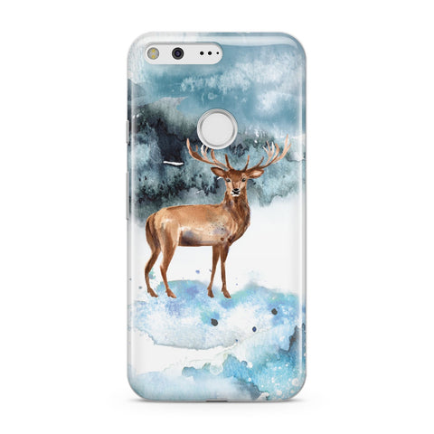 Christmas Winter Stag Google Case
