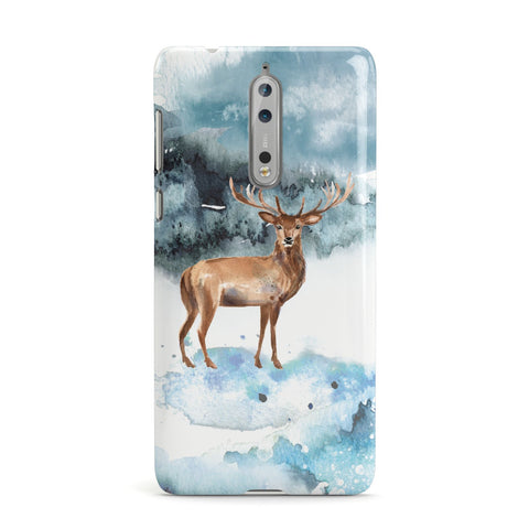 Christmas Winter Stag Nokia Case