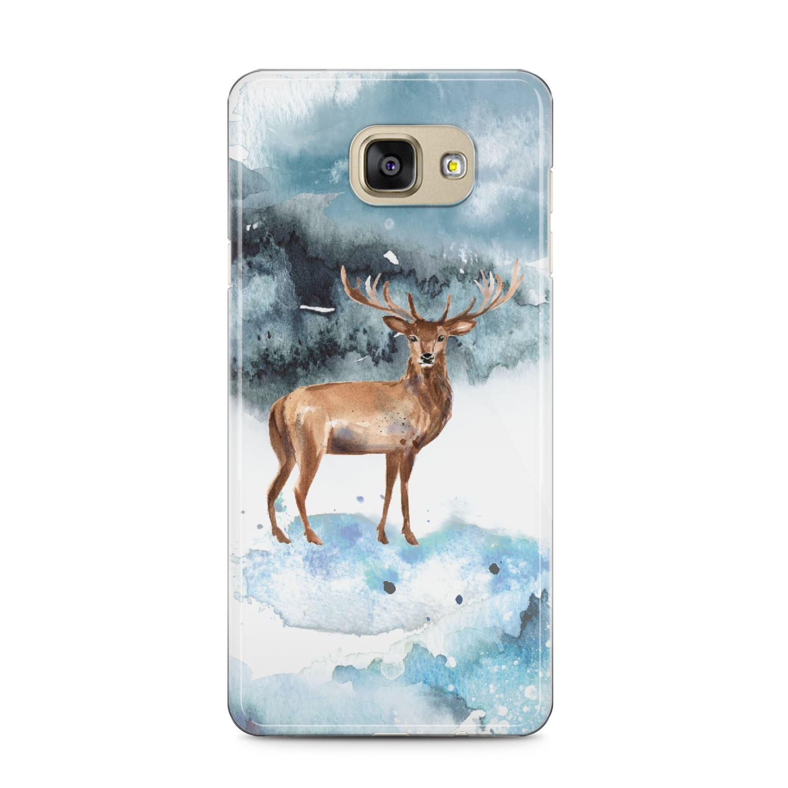 Christmas Winter Stag Samsung Galaxy A5 2016 Case on gold phone