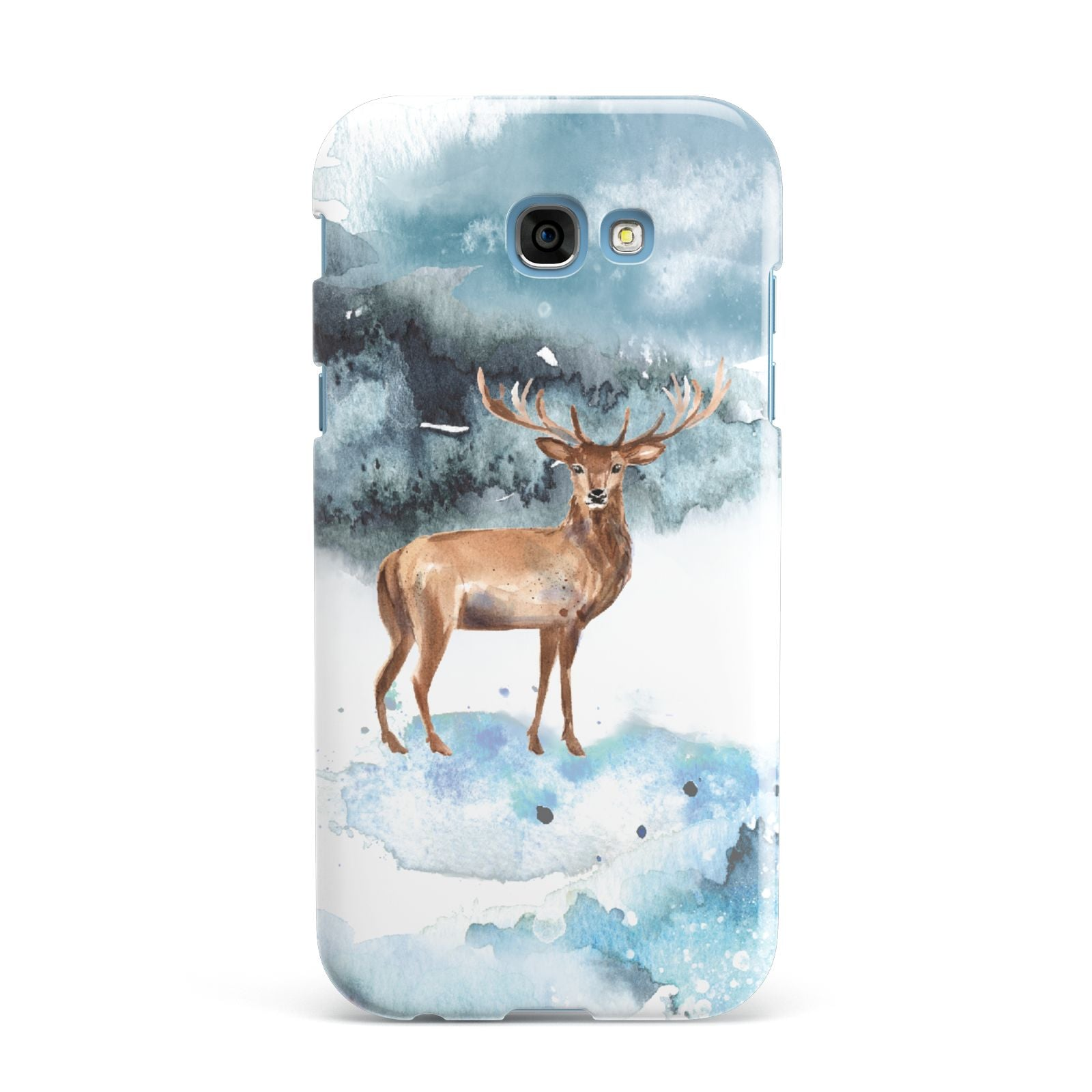 Christmas Winter Stag Samsung Galaxy A7 2017 Case