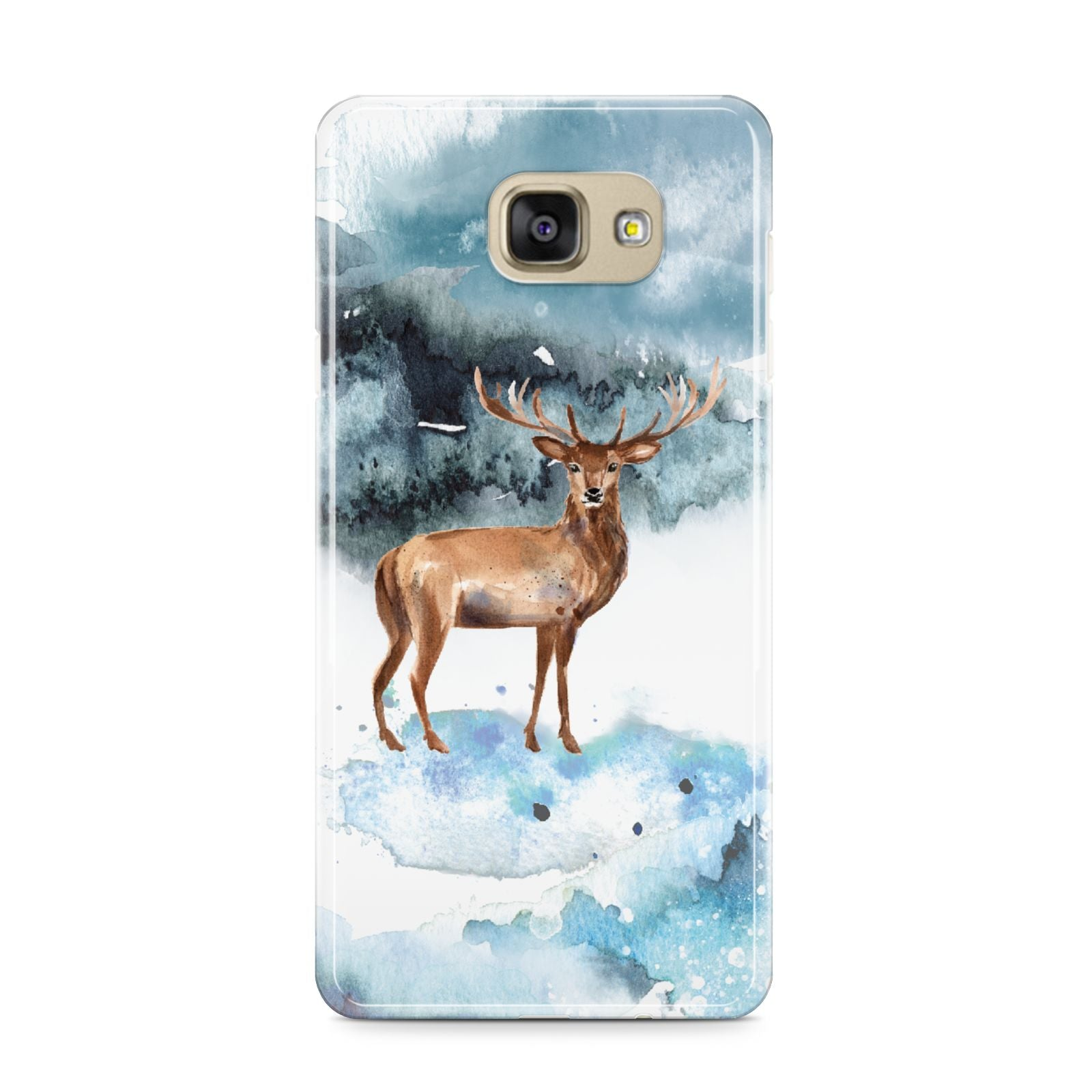 Christmas Winter Stag Samsung Galaxy A9 2016 Case on gold phone