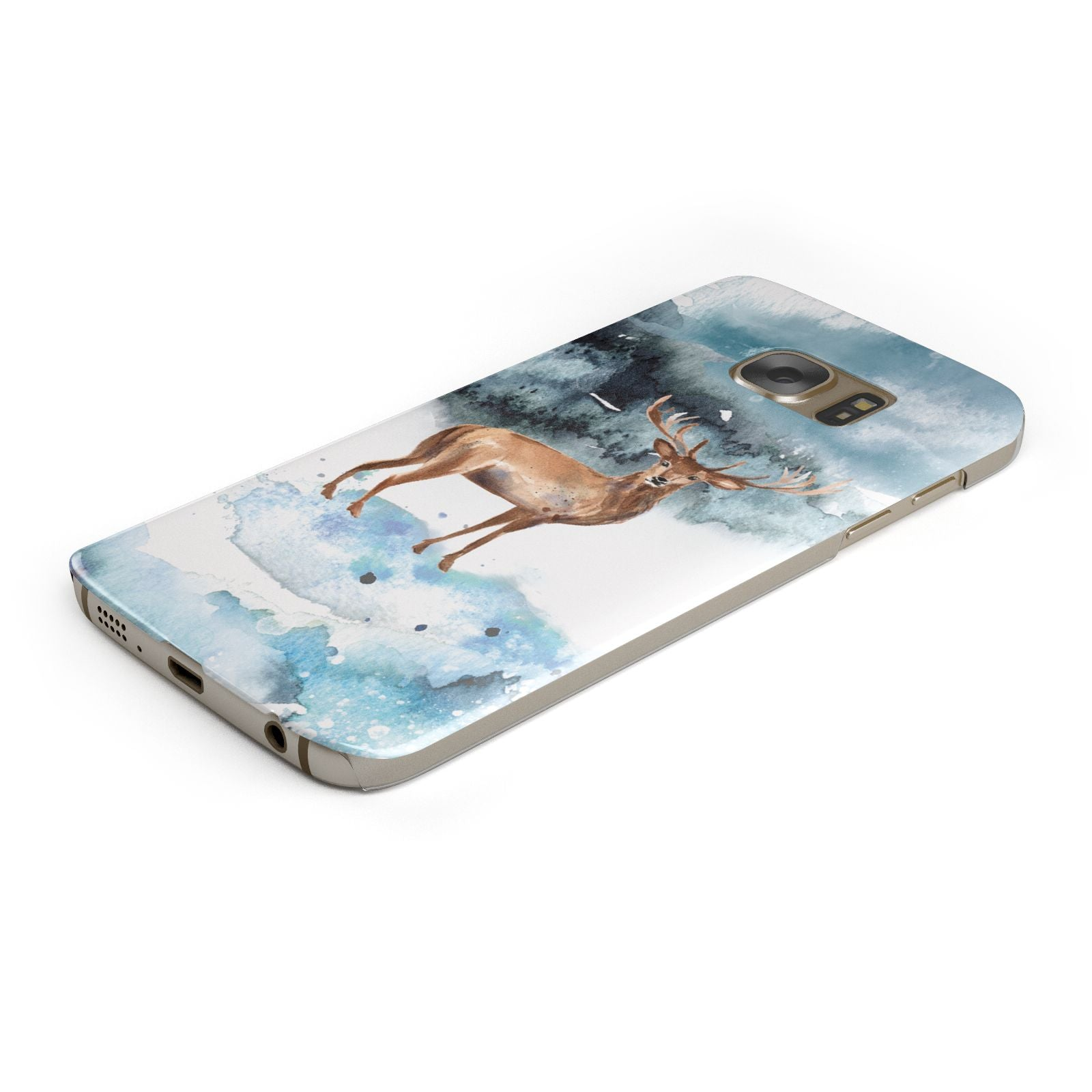 Christmas Winter Stag Samsung Galaxy Case Bottom Cutout