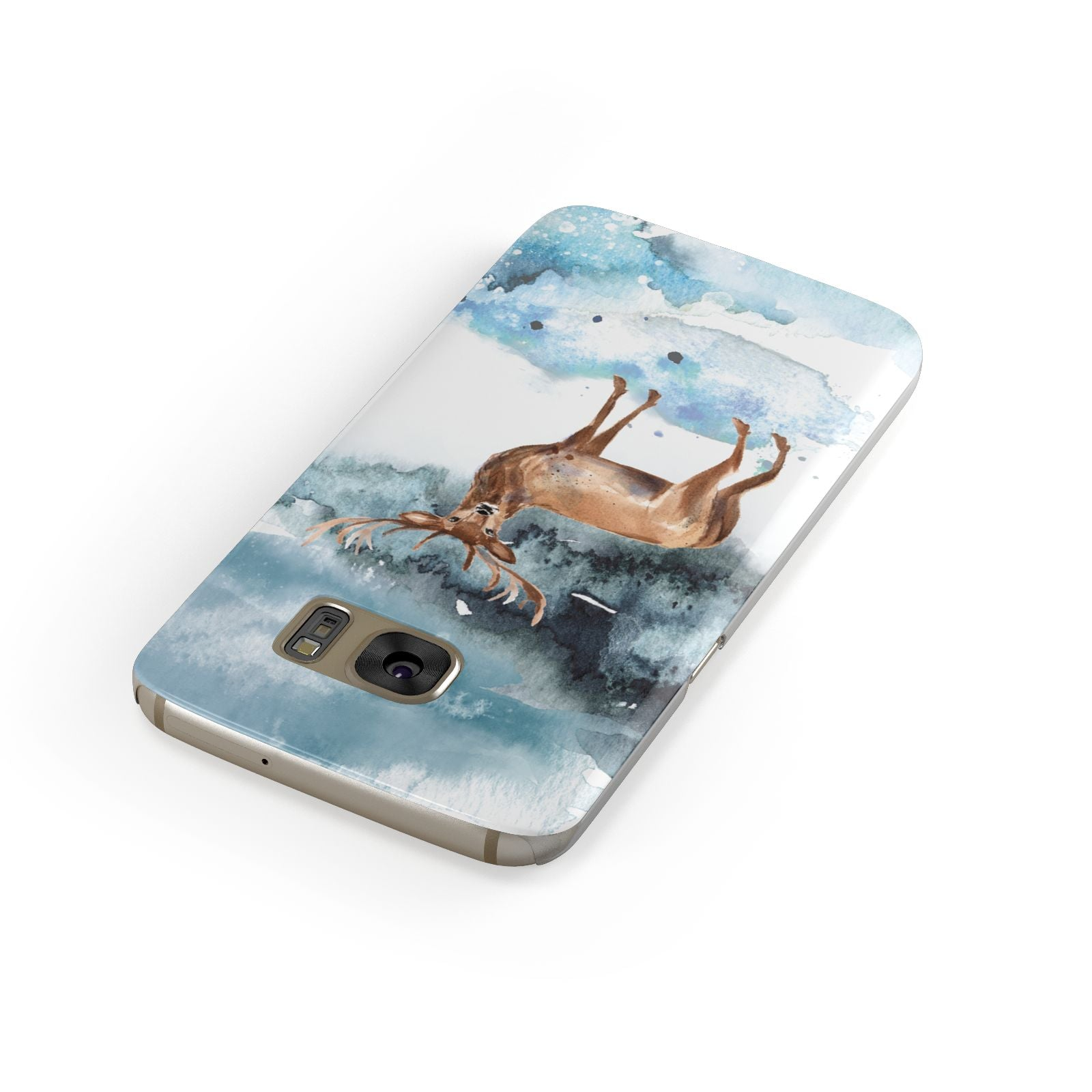 Christmas Winter Stag Samsung Galaxy Case Front Close Up