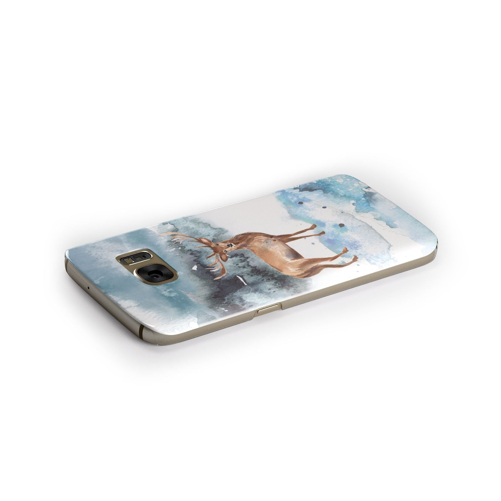 Christmas Winter Stag Samsung Galaxy Case Side Close Up