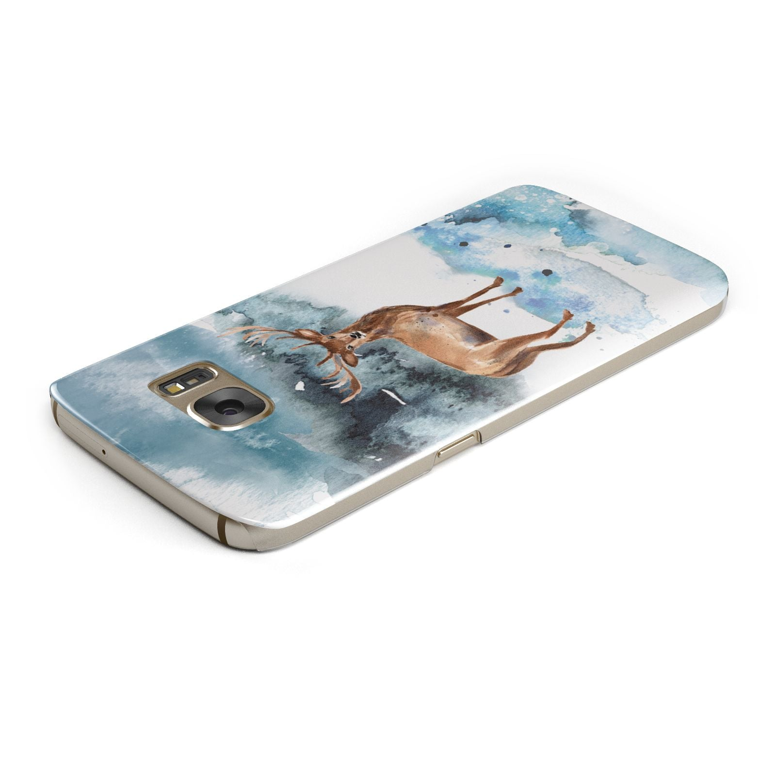 Christmas Winter Stag Samsung Galaxy Case Top Cutout