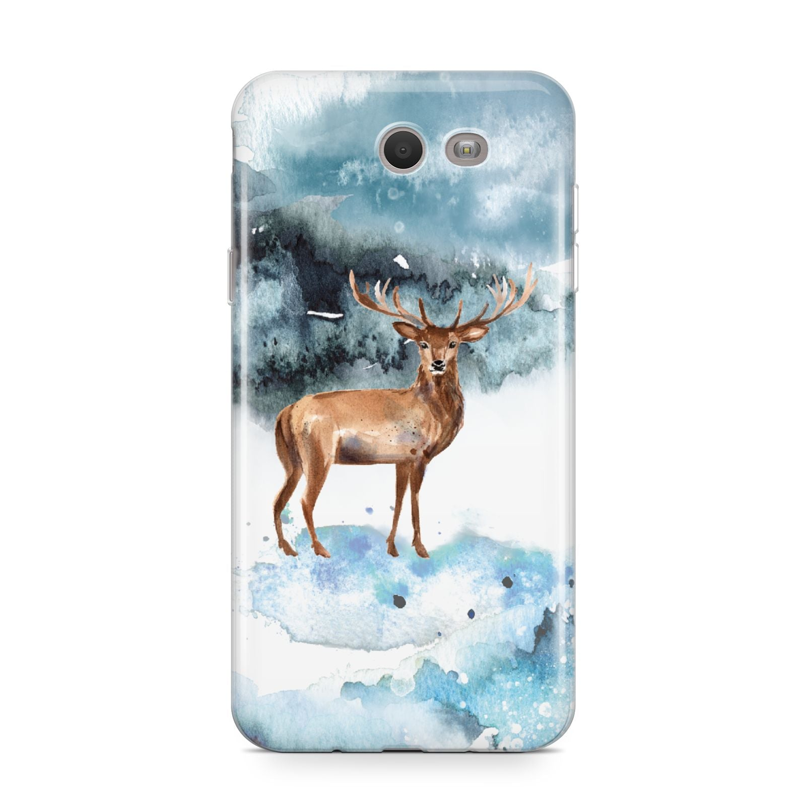 Christmas Winter Stag Samsung Galaxy J7 2017 Case